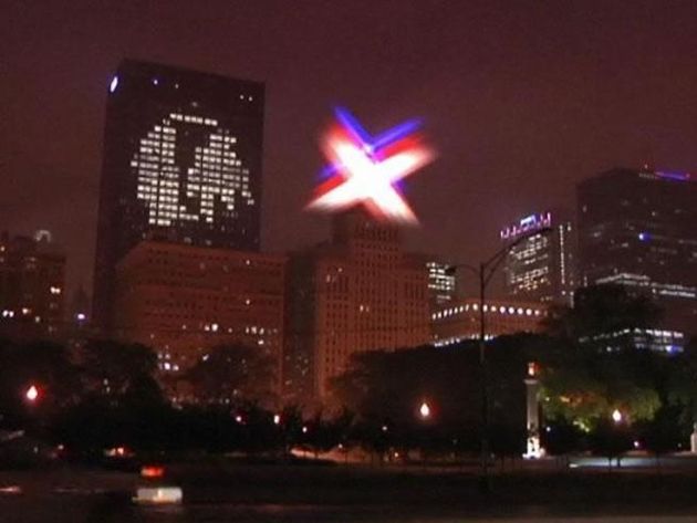 Buildings of Chicago, Boston light up with support for Blackhawks, Bruins (Photos)