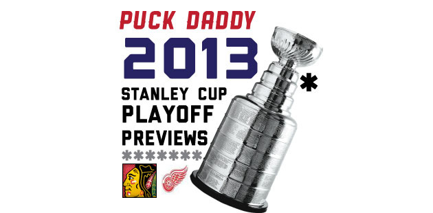 Chicago Blackhawks vs. Detroit Red Wings: Puck Daddy's NHL 2013 Stanley Cup Playoff Preview