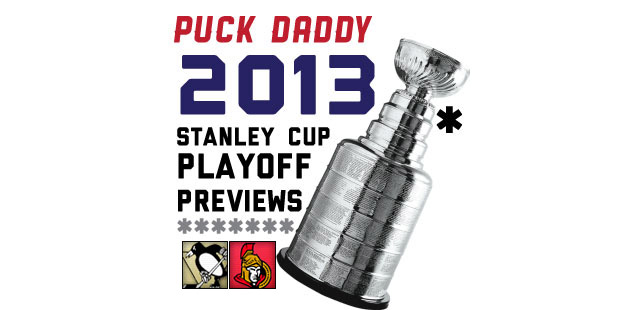 Pittsburgh Penguins (1) vs. Ottawa Senators (7): Puck Daddy's NHL 2013 Stanley Cup Playoff Preview
