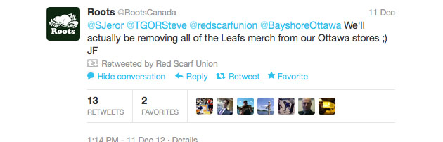 Senators fans force sports retailer to remove Toronto Maple Leafs display from Ottawa mall