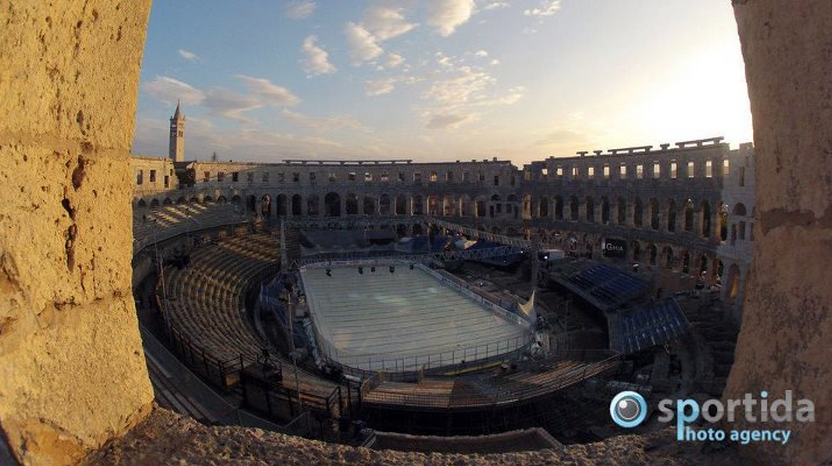 Here's What Hockey In A Roman Amphitheatre Looked Like (Spoiler: It Was Awesome)