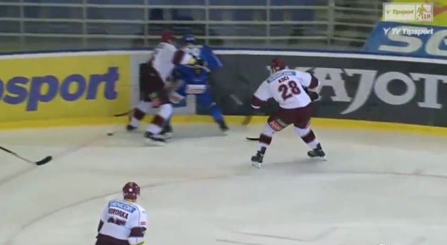 Watch David Koci earn 6-game suspension for hit from behind, fight Boris Valabik (VIDEO)