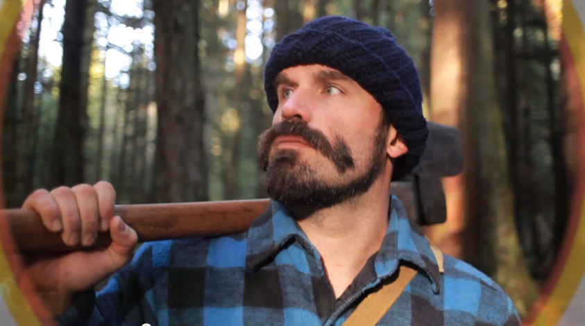 Johnny Canuck returns from the wilderness to celebrate end of NHL lockout (VIDEO)