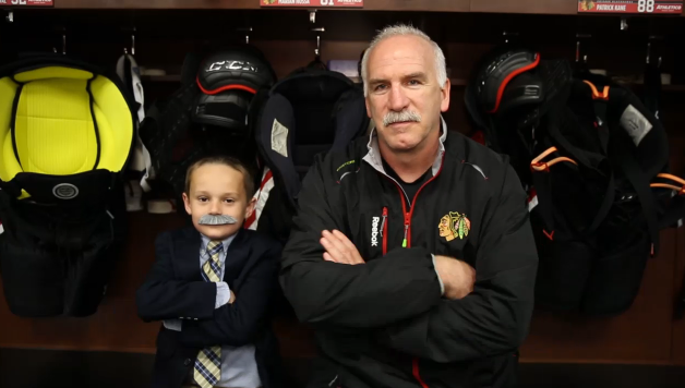 Joey the Junior Blackhawks Reporter returns to talk playoff beards (Video)