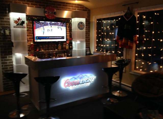 incredible backyard rink has ice level bar golf cart zamboni photos. Black Bedroom Furniture Sets. Home Design Ideas