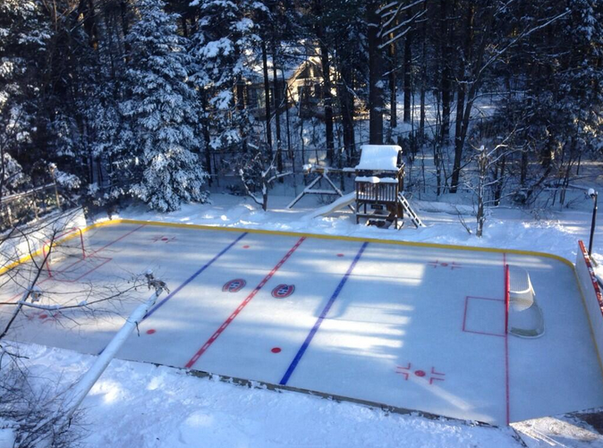 Backyard Rink Zamboni : Incredible backyard rink has icelevel bar, golf cart Zamboni (Photos)
