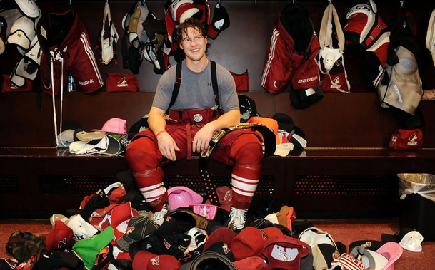 Shane Doan with a lot of hats