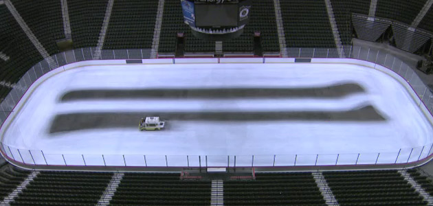 Watch Minnesota Wild's arena ice get made, painted in 43 seconds (Video)