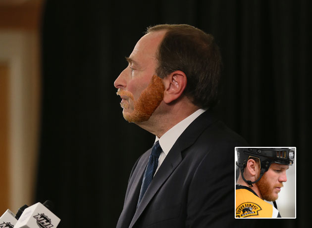The Gary Bettman Bruins/Blackhawks Playoff Beard Gallery