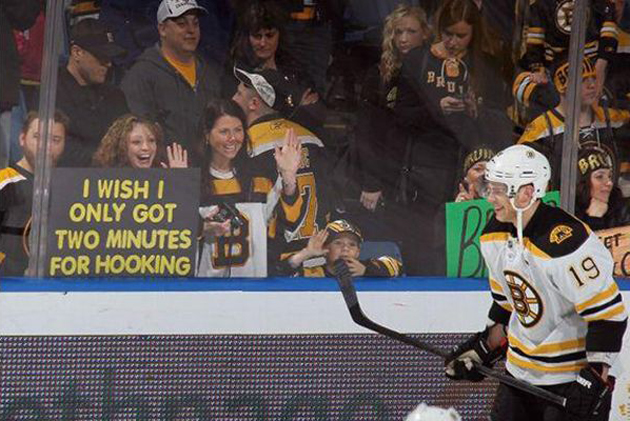Twenty-three of hockey's weirdest and most inappropriate fan signs