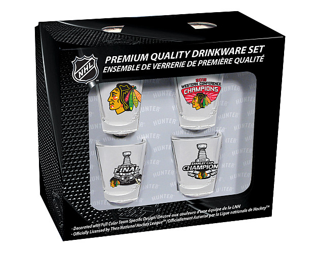 NHL's Stanley Cup shot glasses commemorate Blackhawks' triumph over… Penguins? (Photo)