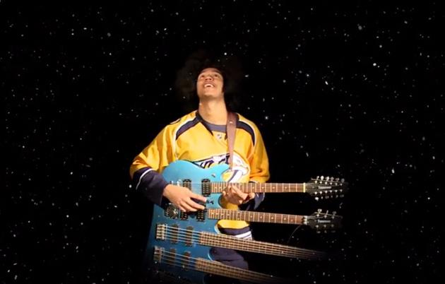 Predators Holiday Card Features Bad Acting, Seth Jones On Quadruple-neck Guitar (video)