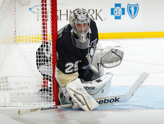 Marc-Andre Fleury surrenders embarrassing goal on slapshot from center ice (Video)
