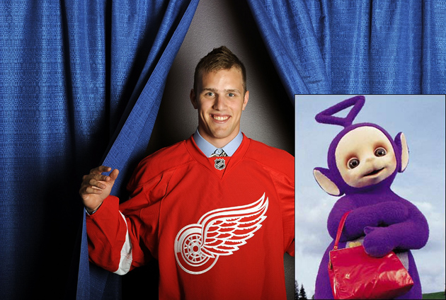 Red Wings prospect Riley Sheahan was wearing Teletubby costume during 'super drunk' driving arrest