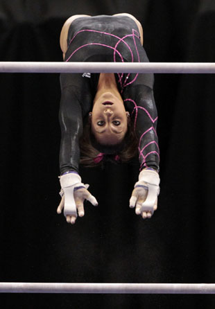 Jordyn Wieber on bars. (Getty)