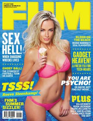 Dec, 2011 edition of FHM in South Africa