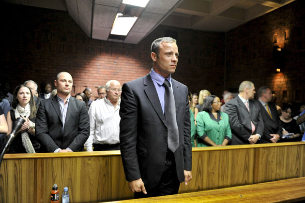 Oscar Pistorius in court. (Getty Images)