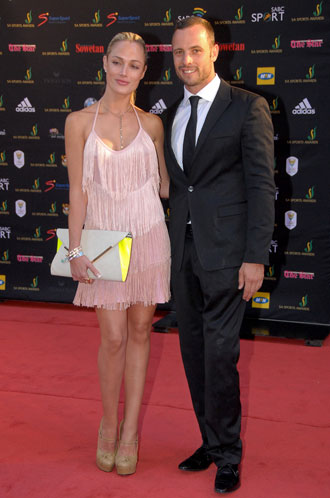 Reeva Steenkamp and Oscar Pistorius in November 2012. (Getty Images)