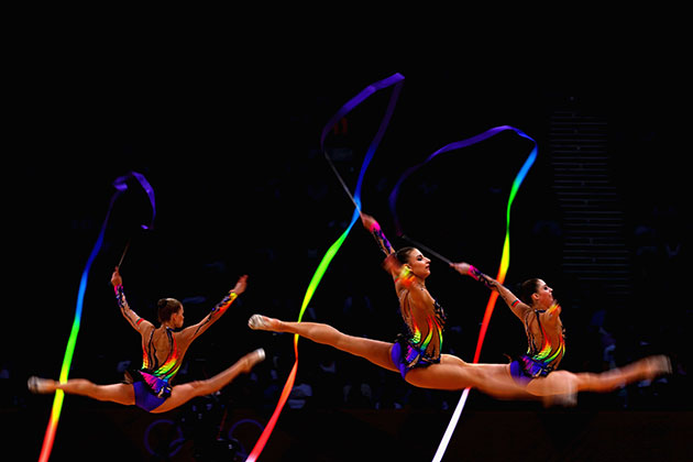 Rhythmic gymnastics at the London Olympics. (Getty Images)