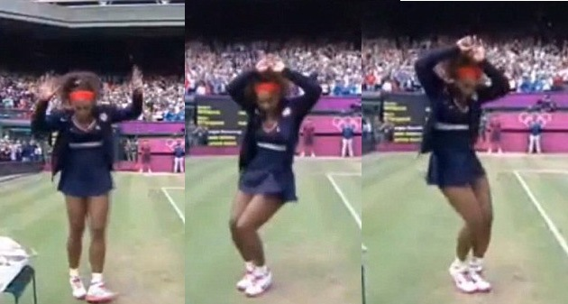 Serena Williams did the crip walk after winning gold (PHOTOS)