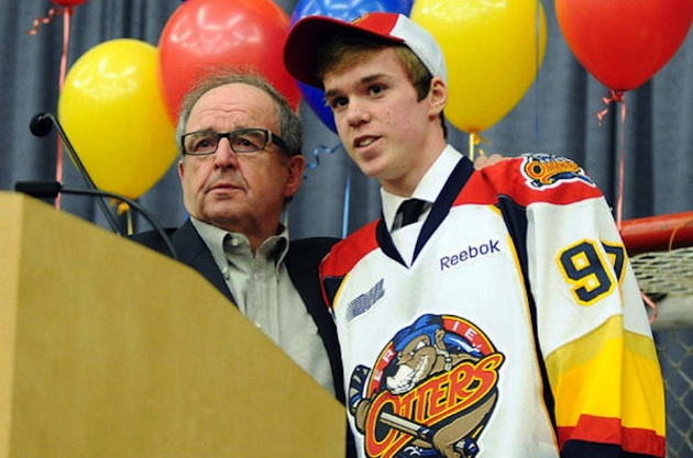 15-year-old Erie Otters superstar Connor McDavid, who signed a lucrative sponsorship deal with Reebok — AP