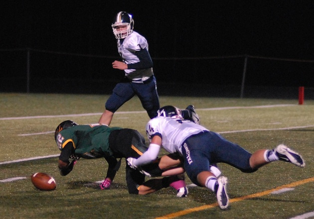 A Liberty player forced a rare Putnam miscue on a fumble during Putnam's rout — The Oregonian
