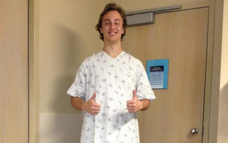 Elijah Glissmeyer returned to high school football and basketball after falling off a 60-foot cliff -- Twitter