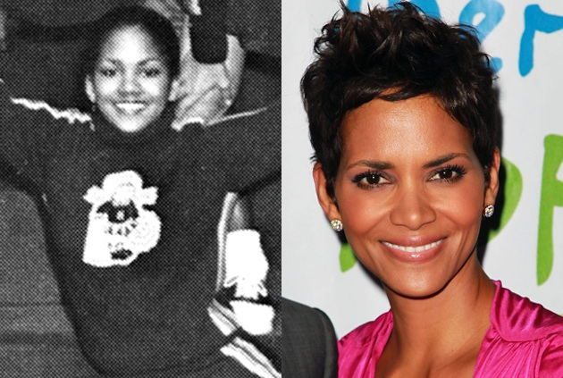 Halle Berry had a lot of school spirit at Heskett Junior High in Bedford, Ohio — Seth Poppel/Yearbook Library/Getty