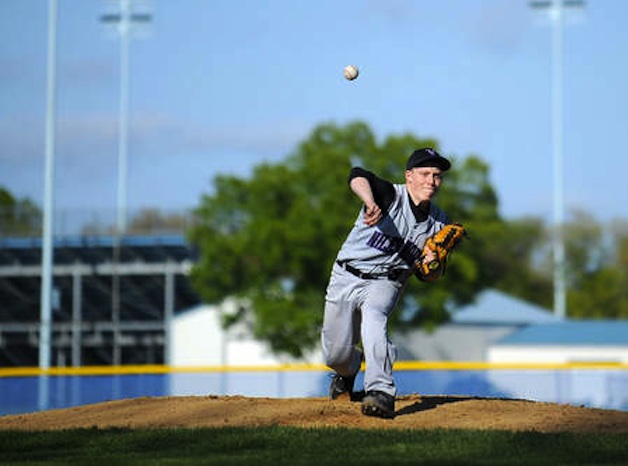 Niles North pitcher James Fuller — Chicago Sun-Times