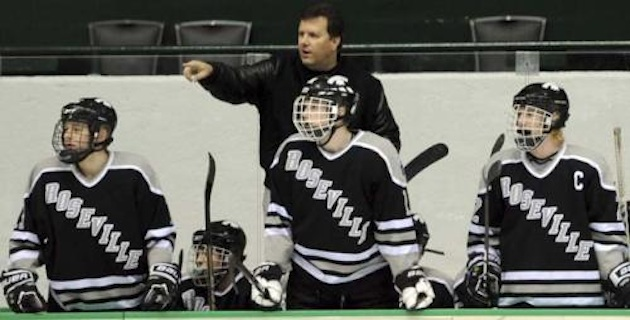 Roseville hockey coach Jeff Pauletti — Pioneer Press via Jeff Pauletti