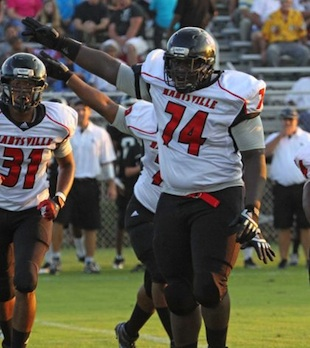 South Carolina lineman Ronald Rouse, who died after a Friday football game — Florence Morning News/AP