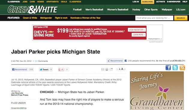 Newspaper's coverage of Jabari Parker gives recruiting its ... Jabari Parker Simeon