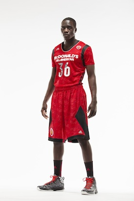 The West uniforms for the upcoming McDonald's All-American Game — Adidas