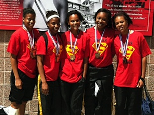 The state champion Shroder 4x100 relay — Shroder High track and field