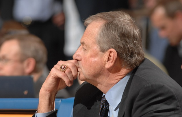 UConn coach Jim Calhoun's squad is currently suspended from all 2013 postseason tournaments — Getty Images