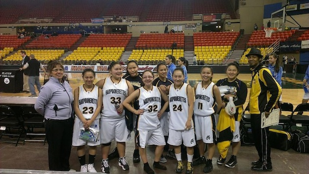 What do you call a female Harpooner? A Harpoonerette, like these Tikigaq basketball players! Facebook