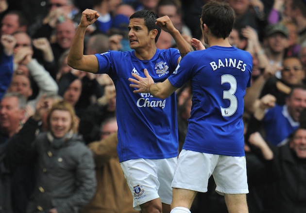 Tim Cahill of Everton and/or New York. (Getty)