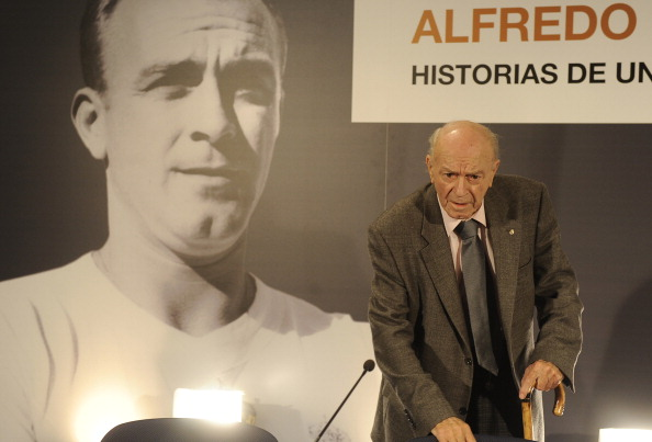 Di Stefano presents a book about his life in 2010. (Getty)