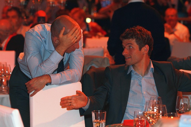 Thomas Muller has the worst stories. (Getty)