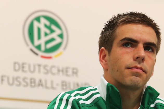 Philipp Lahm is suspicious. (Getty)