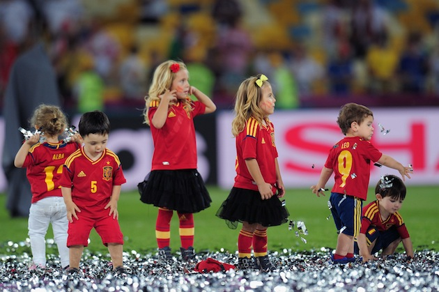 The conquering gang of Spanish babies. (Getty)
