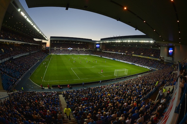 Ibrox during a Scottish Communities League Cup first round match. (Getty)