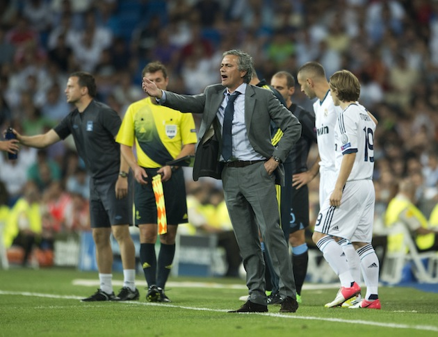 Jose Mourinho not running from the scene of a crime. (Getty)