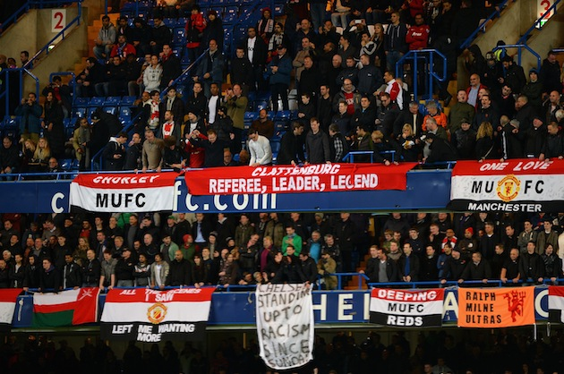 Banner banter. (Getty)