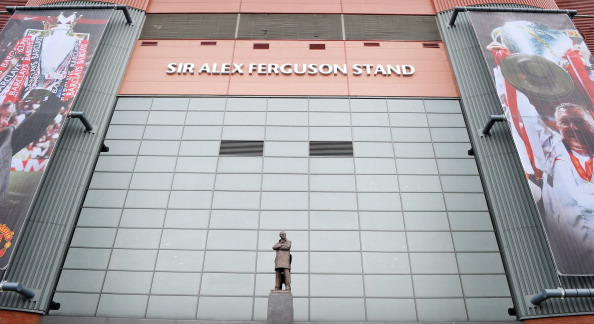Sir Alex Ferguson statue in front of the Sir Alex Ferguson stand. (Getty)