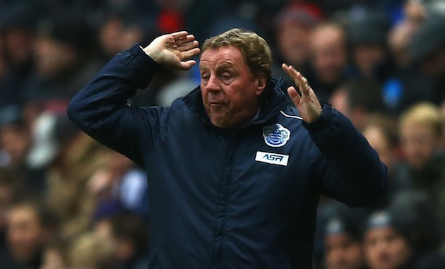 Harry Redknapp reacts to his team. (Getty)