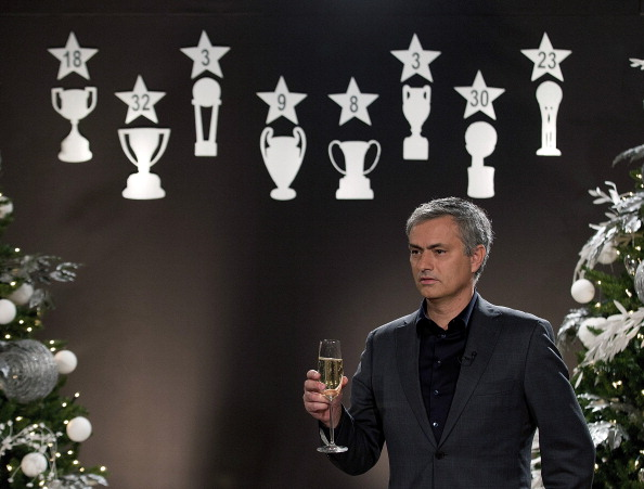 Jose Mourinho toasts himself. (Getty)