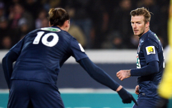 Zlatan commands Beckham to cut the grass. (Getty)