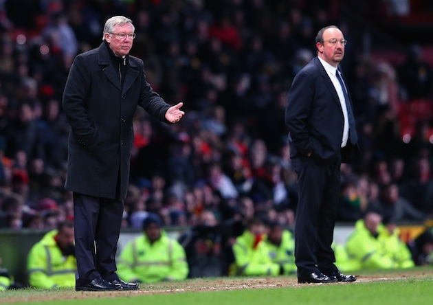 Ferguson would rather shake hands with nothingness than Rafa Benitez. (Getty)