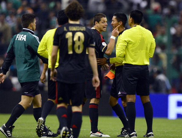 Chicharito is very upset. (Getty)